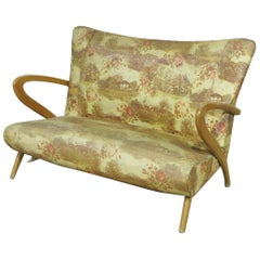 Italian Zanuso Style Settee Couch Sofa MCM Mid-Century Modern, circa 1950