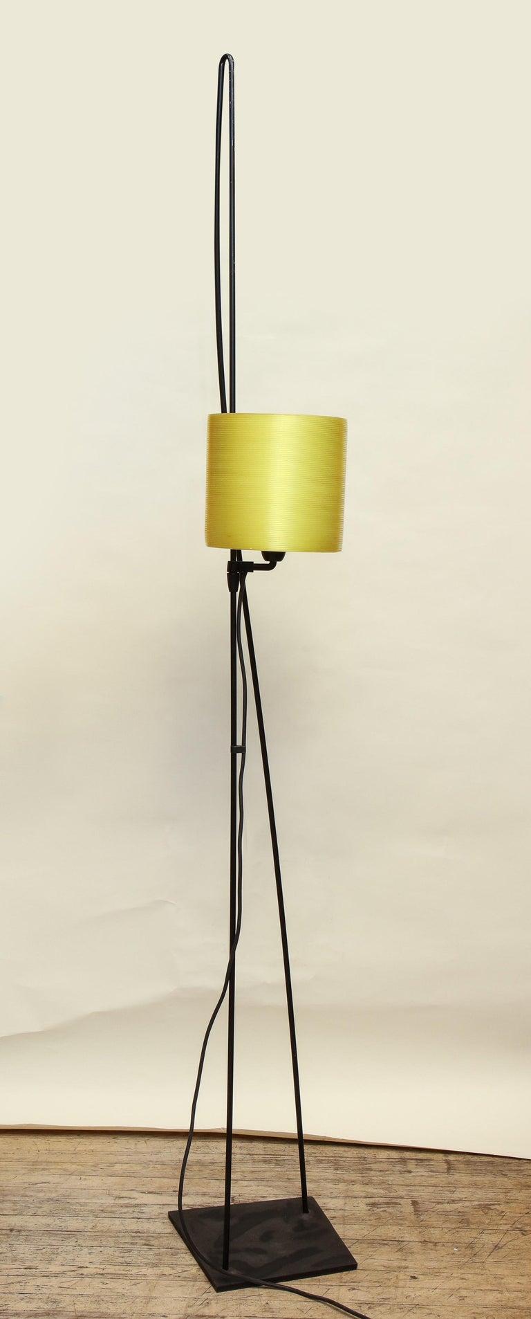 Italiana Luce floor lamp Mid-Century Modern painted iron and plexiglass height of shade adjusts Italy, 1970.