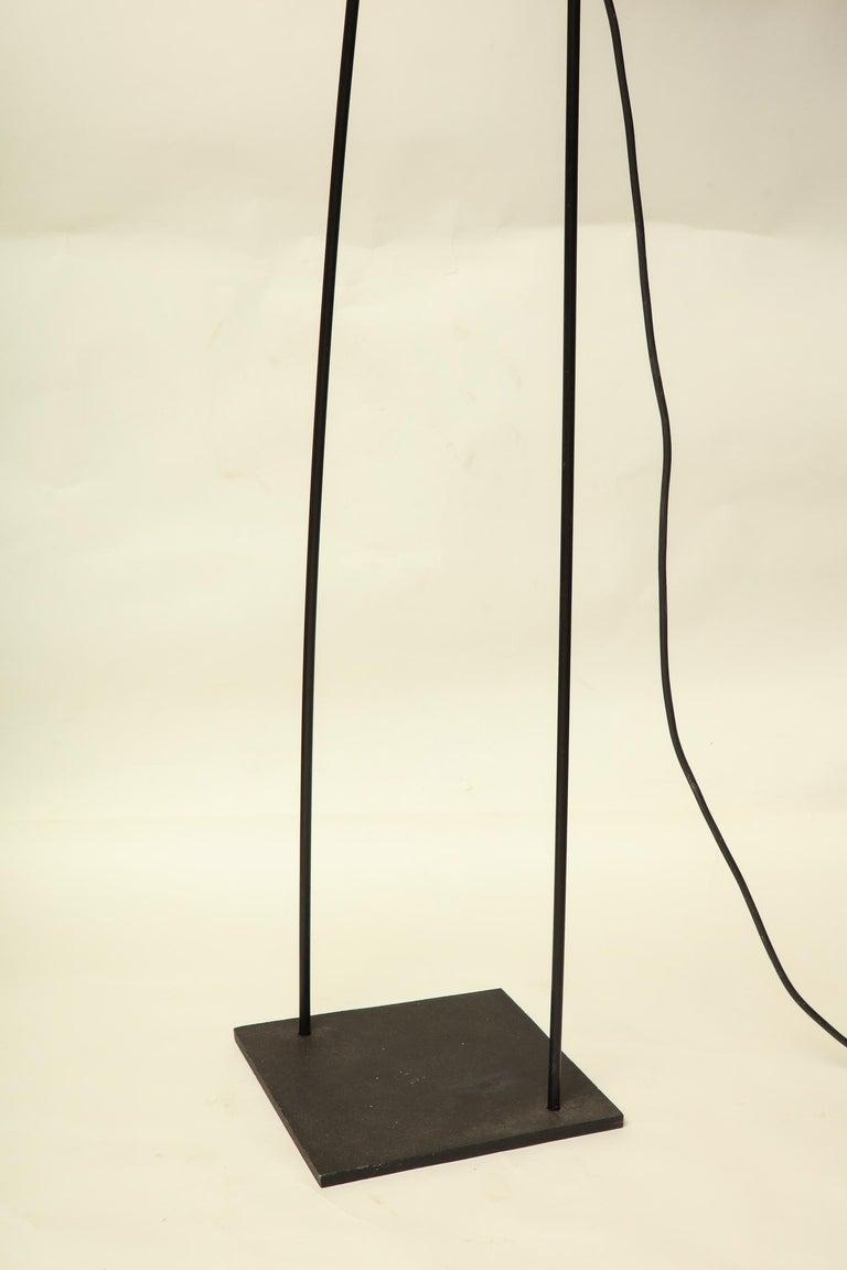 Late 20th Century Italiana Luce Floor Lamp Mid-Century Modern Ion and Plexiglass, Italy, 1970 For Sale