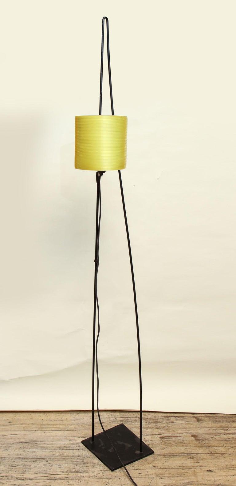 Iron Italiana Luce Floor Lamp Mid-Century Modern Ion and Plexiglass, Italy, 1970 For Sale
