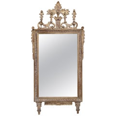 Hand Carved Italianate Giltwood Mirror in the Neo-Classical Fashion