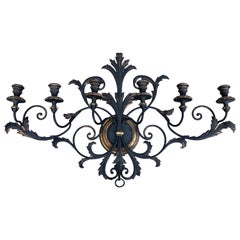 Italianate Tole and Wood Wall Sconce