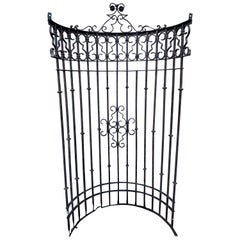 Italianate Wrought Iron Window Grate or Portico, Provenance Celine Dion