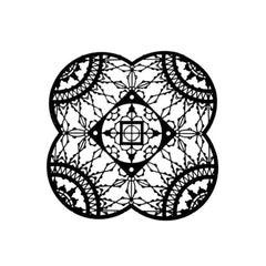 Italic Lace Black Finish Petal Coaster Set of Four, Galante & Lancman for Driad