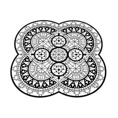 Italic Lace Petal Placemat in Black by Galante & Lancman for Driade
