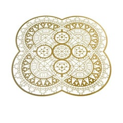 Italic Lace Petal Placemat in Brass by Galante & Lancman for Driade