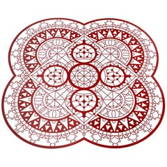 Italic Lace Petal Placemat in Red by Galante & Lancman for Driade