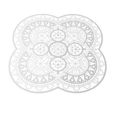 Italic Lace Petal Placemat in White by Galante & Lancman for Driade