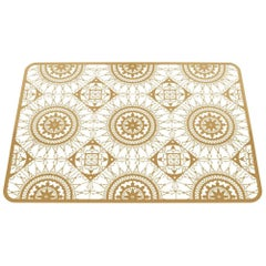 Italic Lace Rectangular Placemat in Brass by Galante & Lancman for Driade