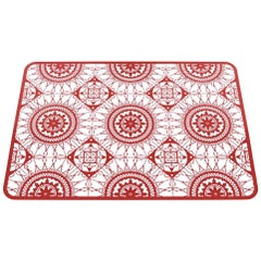 Italic Lace Rectangular Placemat in Red by Galante & Lancman for Driade