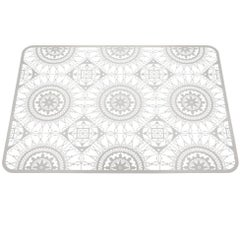 Italic Lace Rectangular Placemat in White by Galante & Lancman for Driade