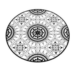 Italic Lace Round Placemat in Black by Galante & Lancman for Driade