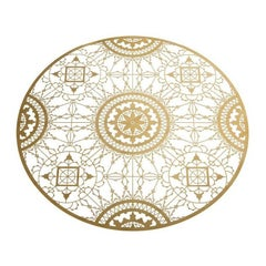 Italic Lace Round Placemat in Brass by Galante & Lancman for Driade