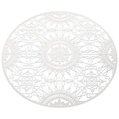 Italic Lace Round Placemat in White by Galante & Lancman for Driade
