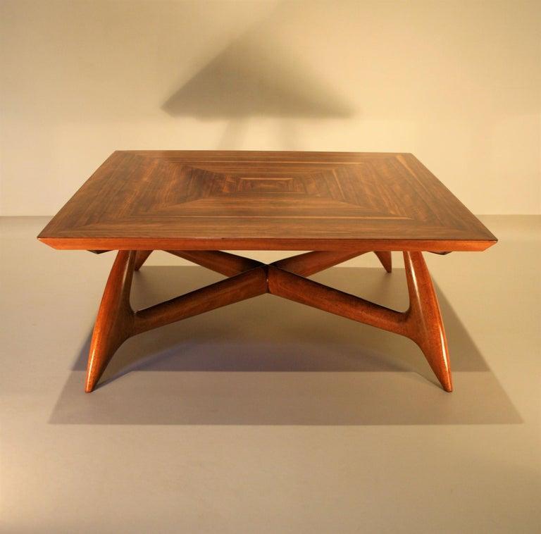 Veneer Italien Coffee Table by Pierluigi Giordani, 1950s