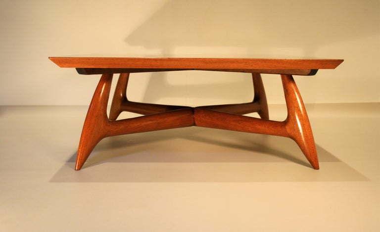 Italien Coffee Table by Pierluigi Giordani, 1950s In Good Condition In Belgium, BE