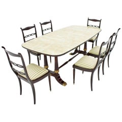 Italien Dining Suite from 1959, Table and Six Chairs