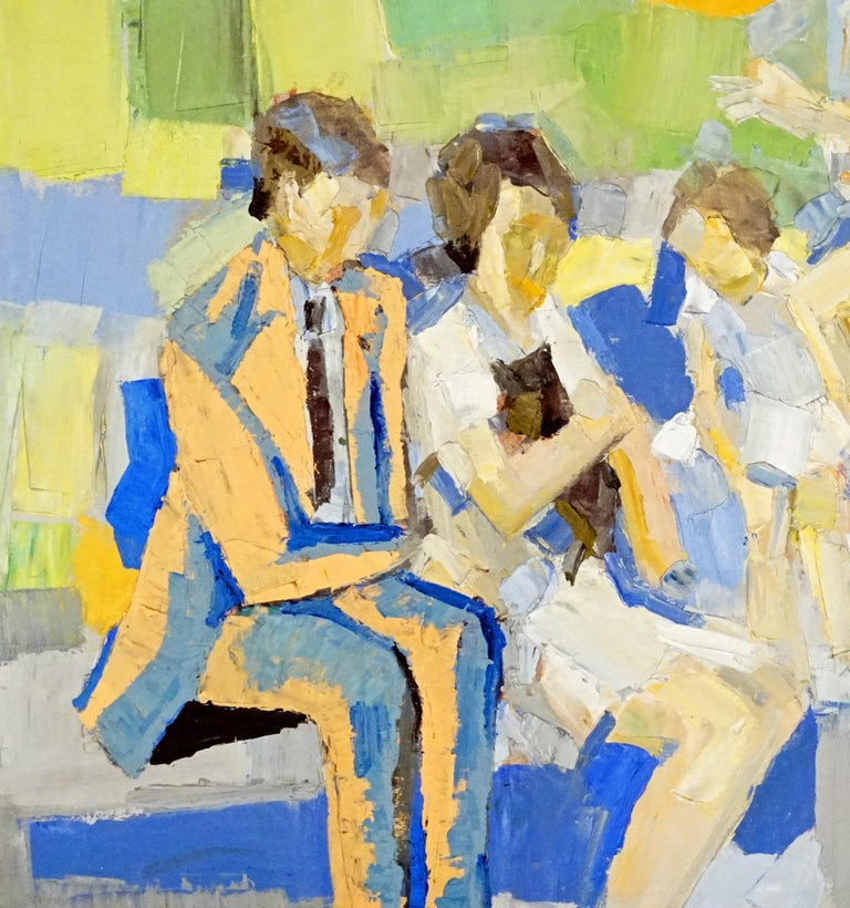 Family in a Park - Contemporary Painting by Italo George Botti