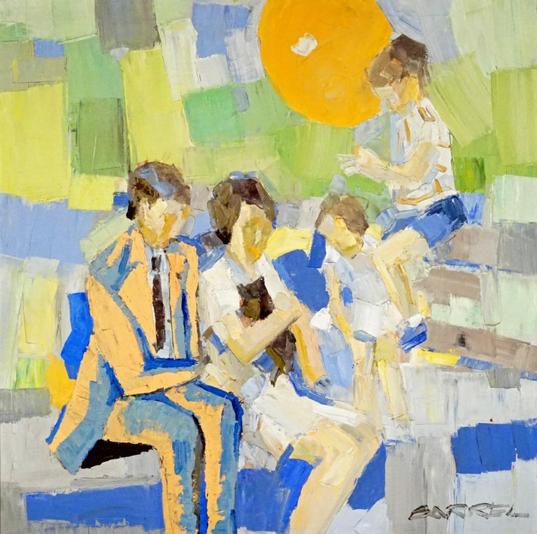 Italo George Botti Figurative Painting - Family in a Park