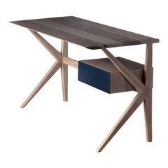 Italo Walnut Wood Desk
