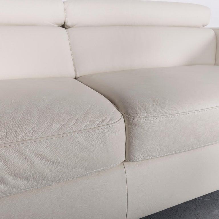 Italsofa Designer Leather Sofa Crème