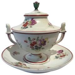 Italy 18th Century Richard Ginori Porcelain Sugar Bowl with Cover