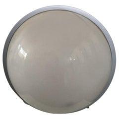 Italy 1970 Mauer Lampe Grey Lacquered Iron and Plexiglass Ingo Maurer Style