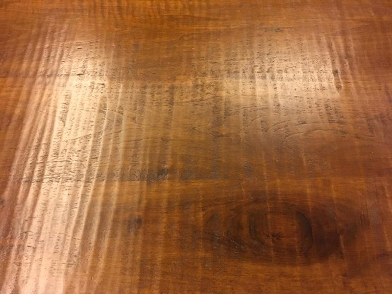 Late 20th Century Italy 1970 Officina Rivadossi Solid Walnut Table in Postmodern Style For Sale
