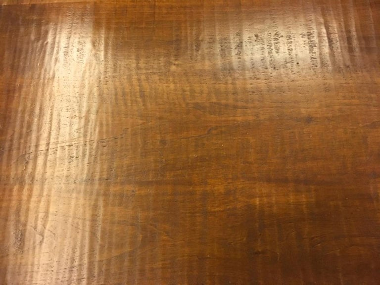 Italy 1970 Officina Rivadossi Solid Walnut Table in Postmodern Style For Sale 1