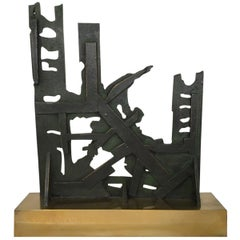 Italy 1980 Abstract Sculpture by Nevio De Luca
