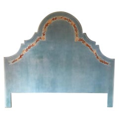 Italy 21st Century Full Size Lacquered Wood Bed Frame after Gabriella Crespi