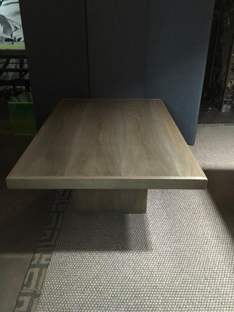 Italy 21st Century Coffee Table in Grey Oakwood,  Rectangular For Sale 6