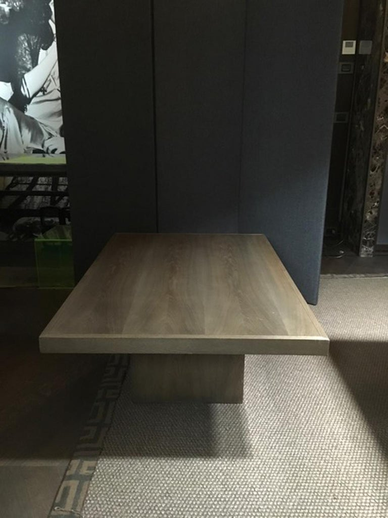 Italy 21st Century Coffee Table in Grey Oakwood,  Rectangular For Sale 7