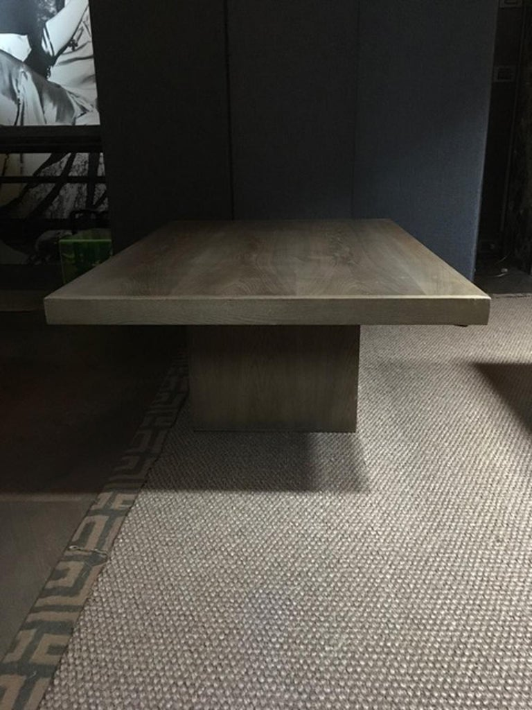 Italy 21st Century Coffee Table in Grey Oakwood,  Rectangular For Sale 8