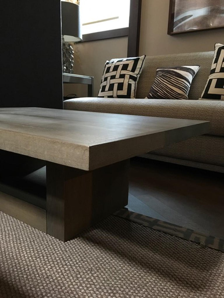 Italy 21st Century Coffee Table in Grey Oakwood,  Rectangular For Sale 11