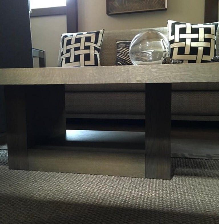 Italy 21st Century Coffee Table in Grey Oakwood,  Rectangular For Sale 12