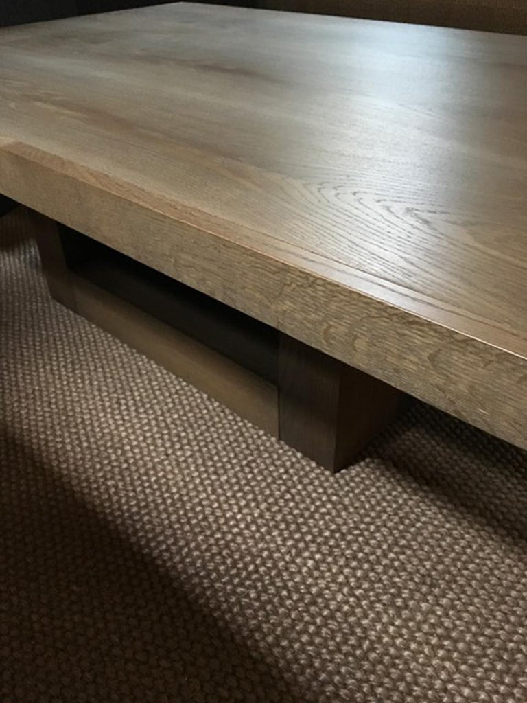 Italy 21st Century Coffee Table in Grey Oakwood,  Rectangular For Sale 13