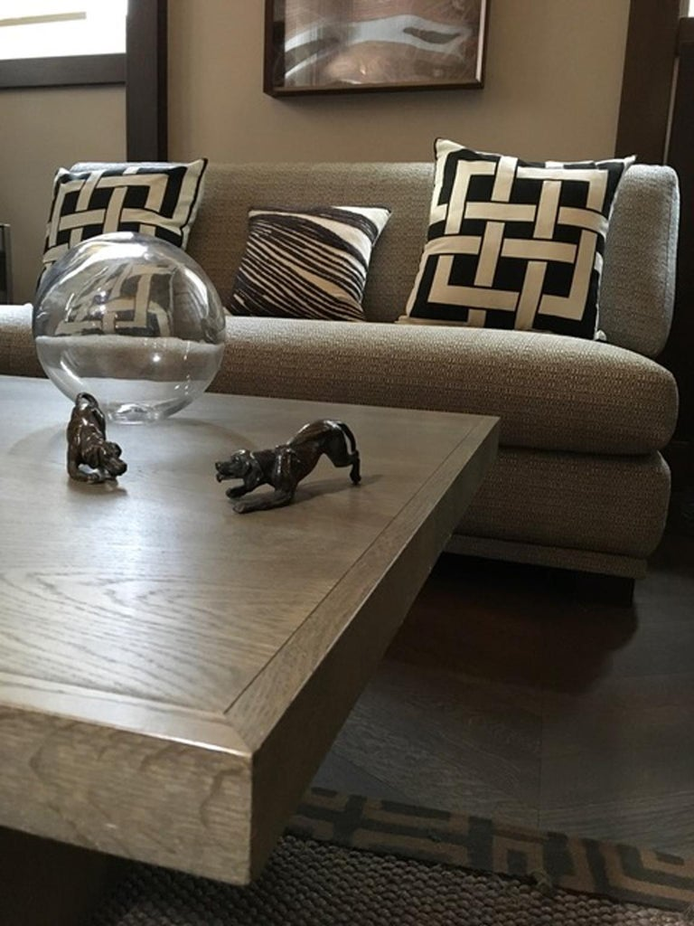 Italy 21st Century Coffee Table in Grey Oakwood,  Rectangular In Excellent Condition For Sale In Brescia, IT