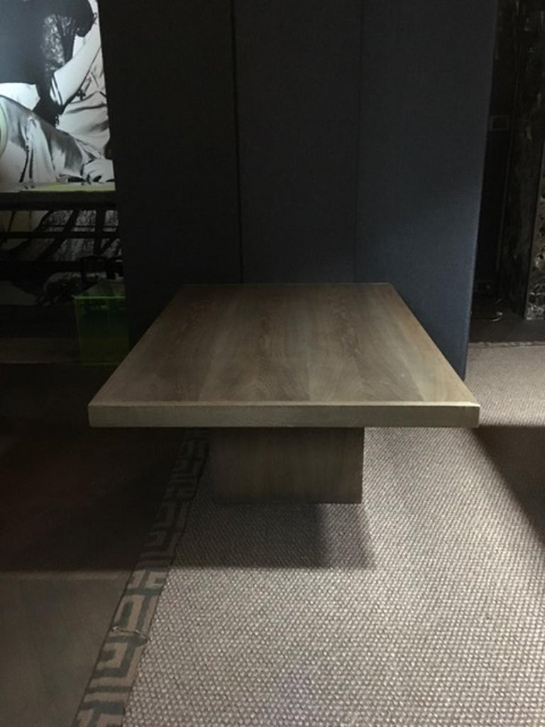 Italy 21st Century Coffee Table in Grey Oakwood,  Rectangular For Sale 1