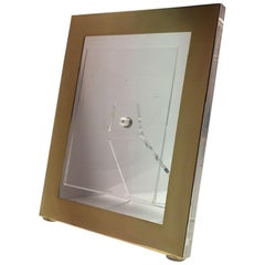 Italy Brass and Plexiglass Frame Midcentury Design Style, Contemporary Product