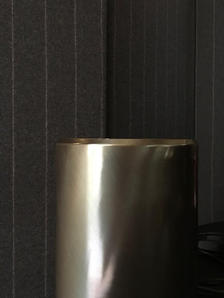 Italy Burnished Metal Contemporary Design in Minimalist Style Table Floor Lamp For Sale 4