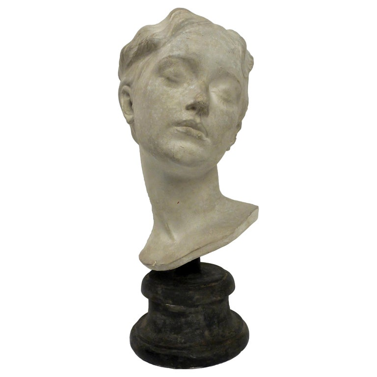 Italy circa 1890, Academic Cast Depicting a Young Girl Head For Sale