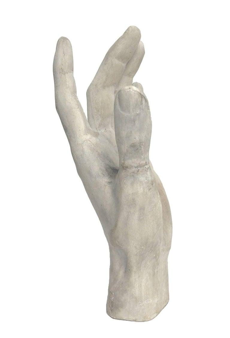 Italian Italy, circa 1890, Cast of Plaster Depicting a Hand