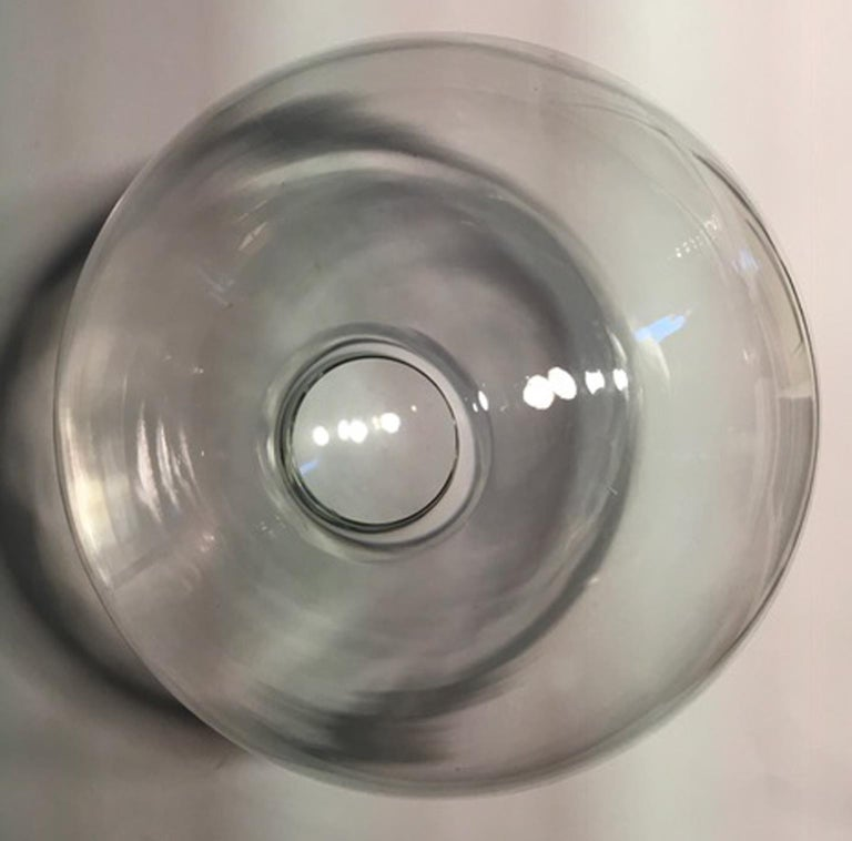 Italy Clear Sphere Glass Minimalist Style Contemporary Decorative Object For Sale 11