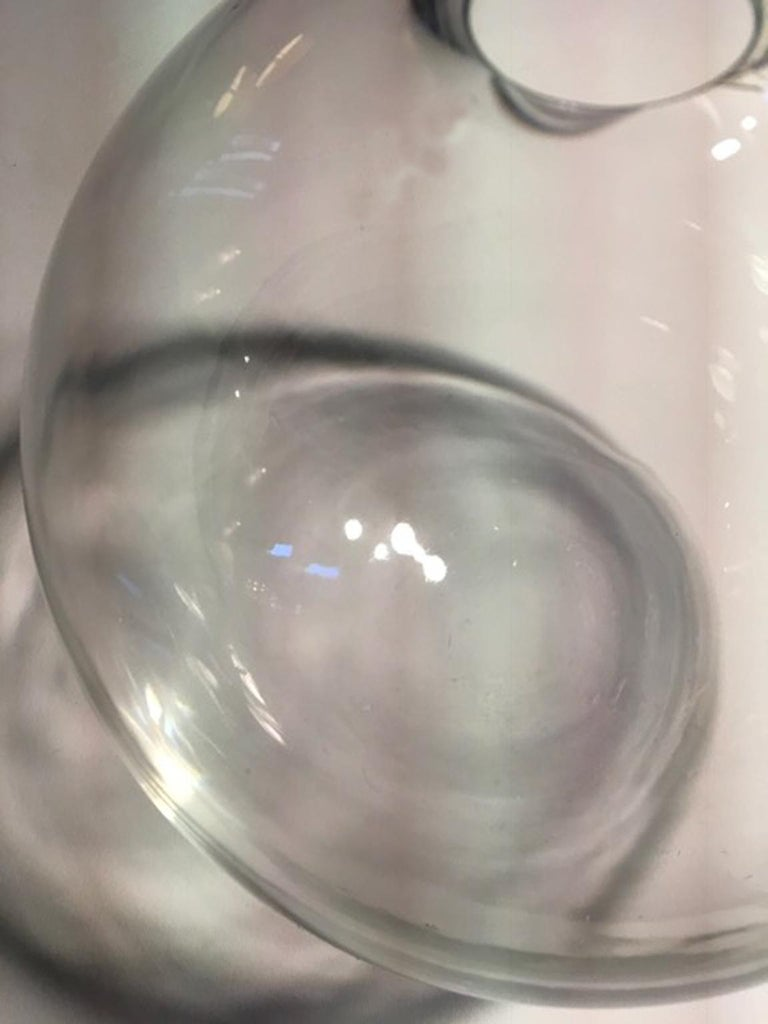 Italy Clear Sphere Glass Minimalist Style Contemporary Decorative Object For Sale 12