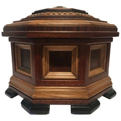 Italy Jewelry or Watches Wooden Box in Fine Cabinetry