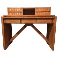 Italy Officina Rivadossi Oak Writing Desk Post Modern Design, 1990