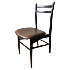 Italy Post-Modern Design Black Wooden Chair