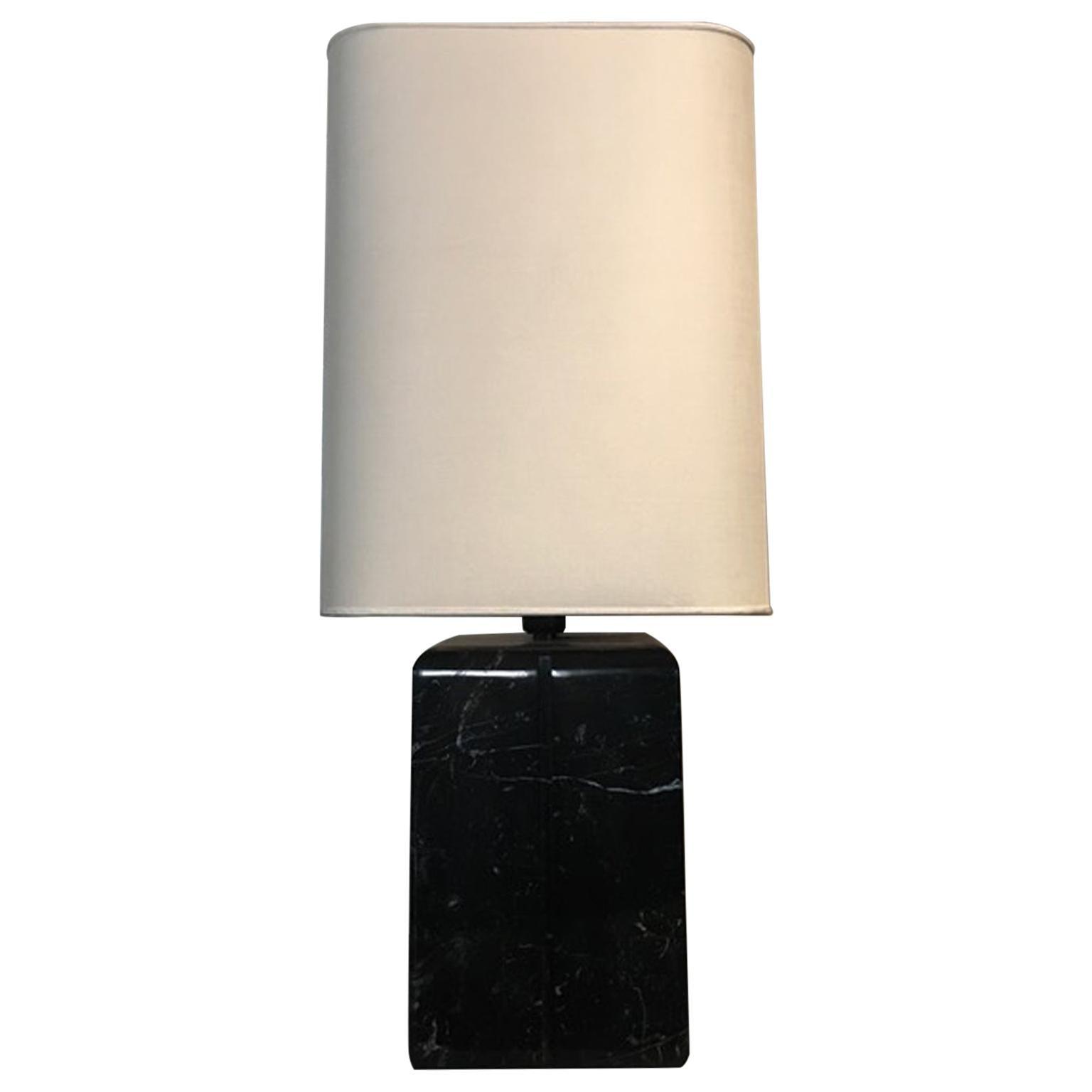 Italy Postmodern Design Style Black Marble Table Lamp