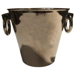 Italy Silver Plated Ice Bucket with Rings